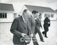 Prime Minister Vorster inspects houses at Atlantis, Cape Town
