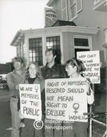 Protesting gender inequality Mowbray Hotel, Cape Town