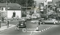 1950s traffic in Voortrekker Road, Bellville, Cape Town