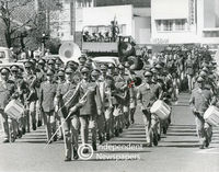 Apartheid-era military parade down Voortrekker Road, Bellville, Cape Town