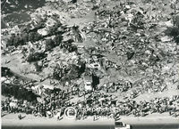 Aerial view of Modderdam Road squatter camp, Cape Town