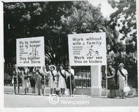 Black Sash protest against  migratory labour system, Cape Town