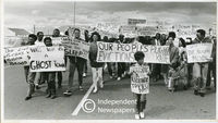 Protest by Blue Downs residents, Cape Town