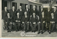 Prime Minister H.F. Verwoerd and members of his Cabinet