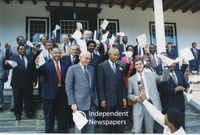 Nelson Mandela and Cabinet in the Government of National Unity, Cape Town