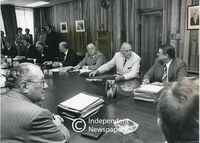 Vorster Cabinet meeting, Cape Town, 1978