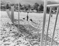Fencing at Camps Bay beach, Cape Town