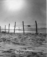 Apartheid-era crowd control, Camps Bay Beach, Cape Town