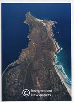 Aerial view of Cape Point, Cape Town