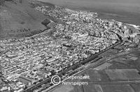 Aerial view of Greenpoint and Sea Point, Cape Town
