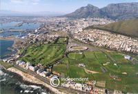 Aerial view, central Cape Town