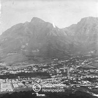 View of the City Bowl, Cape Town, in 1899