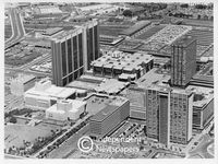 Aerial view of the Civic Centre and surrounds, Cape Town, 1978