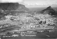 Aerial view of central Cape Town