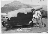 Muzzle-loading cannon, Salt River, 1957