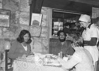 Whites only restaurant, Cape Town, 1977