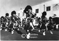 Cape Town Highlanders Pipe Band, Castle, Cape Town, 1977