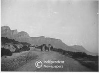 On the road to Camps Bay, late 19th or early 20th Century, Cape Town