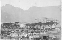 Postcard of Grand Parade, Cape Town, on auction day