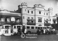 Ambulances at Somerset Hospital, Green Point, circa 1940s