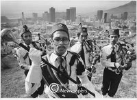 Muslim pipe band, Cape Town, 1981