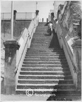 Stairway in the Malay Quarter, Cape Town, late 1950s