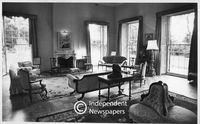Drawing room of Newlands House, Cape Town, with double sash windows, 1977