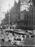 Gas explosion in Adderley Street, Cape Town, 1937