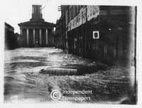 Flooding in central Cape Town, 1904