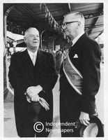 H.F. Verwoerd and C.R. Swart, Cape Town Station, Cape Town, 1962