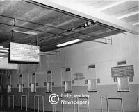 Apartheid signage, Cape Town 1964