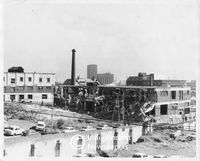 Demolition in Chiappini Street, District Six, Cape Town, 1971