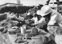 Archaeological finds, Golden Acre site, Cape Town, 1975