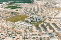 Aerial view of the Delft housing scheme, Cape Town