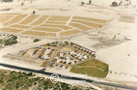 Aerial view of the Delft show village, Cape Town