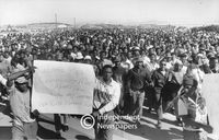 Protest march in Khayelitsha, Cape Town