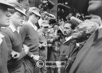 Archbishop Desmond Tutu faces police, Cape Town