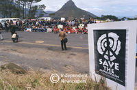 Table Mountain protest, Cape Town