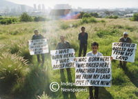 Former District Six landowners demonstrate for return of their land, Cape Town
