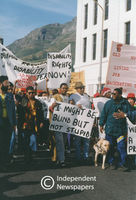 Disabled workers march, Cape Town