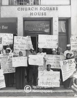 Protest outside Church Square House, Cape Town