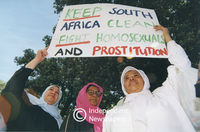 Muslim community demonstrates, Cape Town