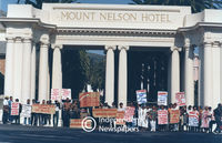 Mount Nelson employees protest, Cape Town