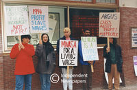 Argus employees protest wages, Cape Town