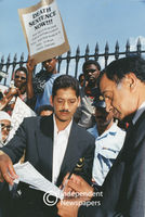 Justice Minister accepts memorandum on death penalty, Cape Town