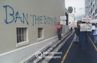 Human rights protest, Cape Town