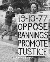 Political protest, 1989, Cape Town