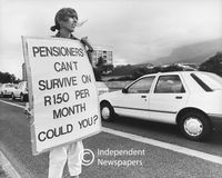 Petition for increase in pension, Cape Town