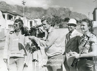 BBC crew filming District Six, Cape Town