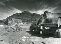 Bulldozers and lorries in District Six